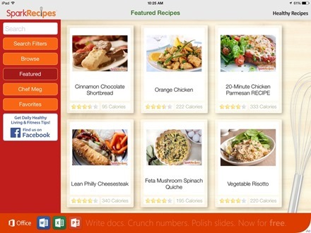 Healthy Recipes by SparkRecipes for iPad