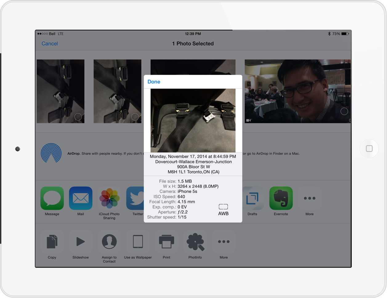 PhotInfo for iPad Provides Metadata Within Photos App