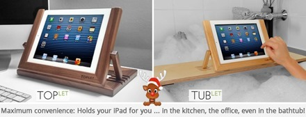 TUBLET and TOPLET iPad Stands