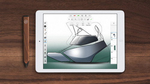 sketchbook mobile and pencil stylus