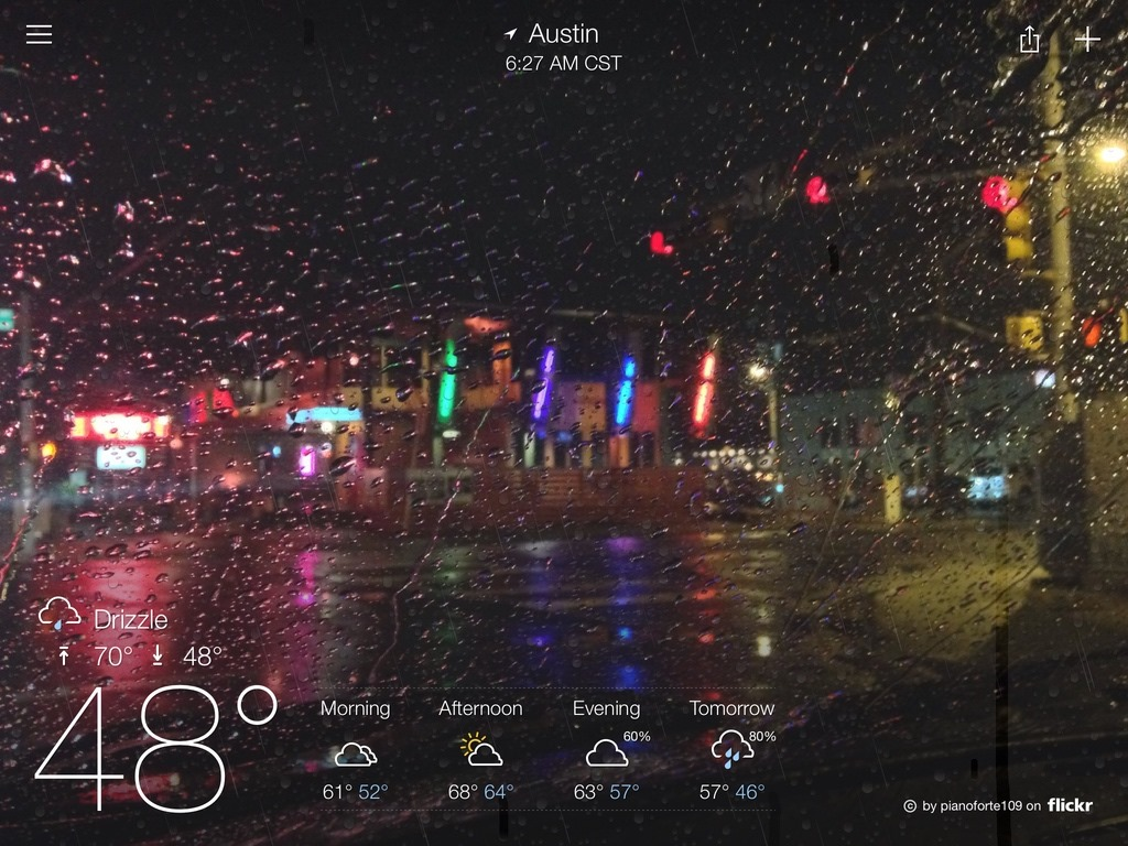 Yahoo Weather For Ipad Updated New Animated Effects