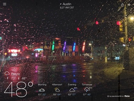 Yahoo Weather for iPad