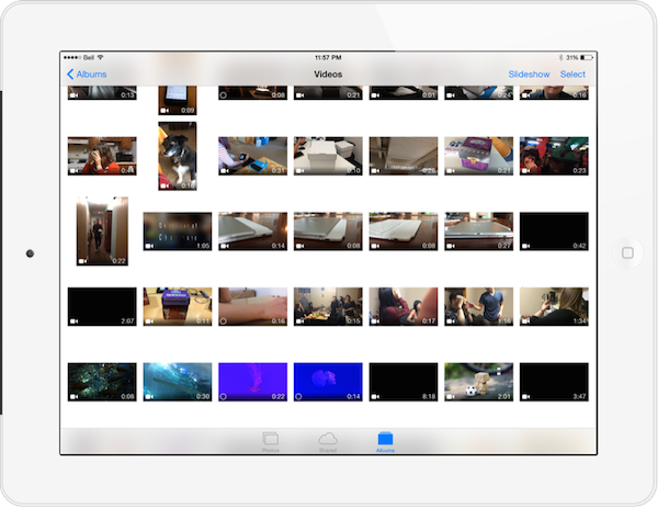 icloud photo library for video