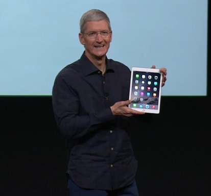 Tim Cook and the iPad Air 2