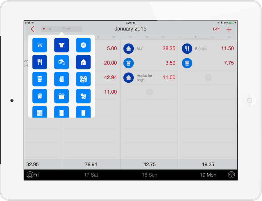 next finance tracker for ipad