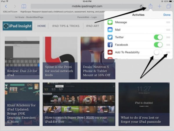 The (5) most useful features in Safari on the iPad