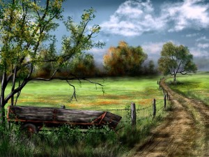 iPad Art: Country Road
