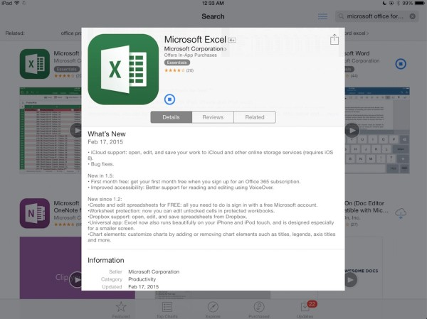 How to manage a Microsoft Office document in iCloud on your iPad