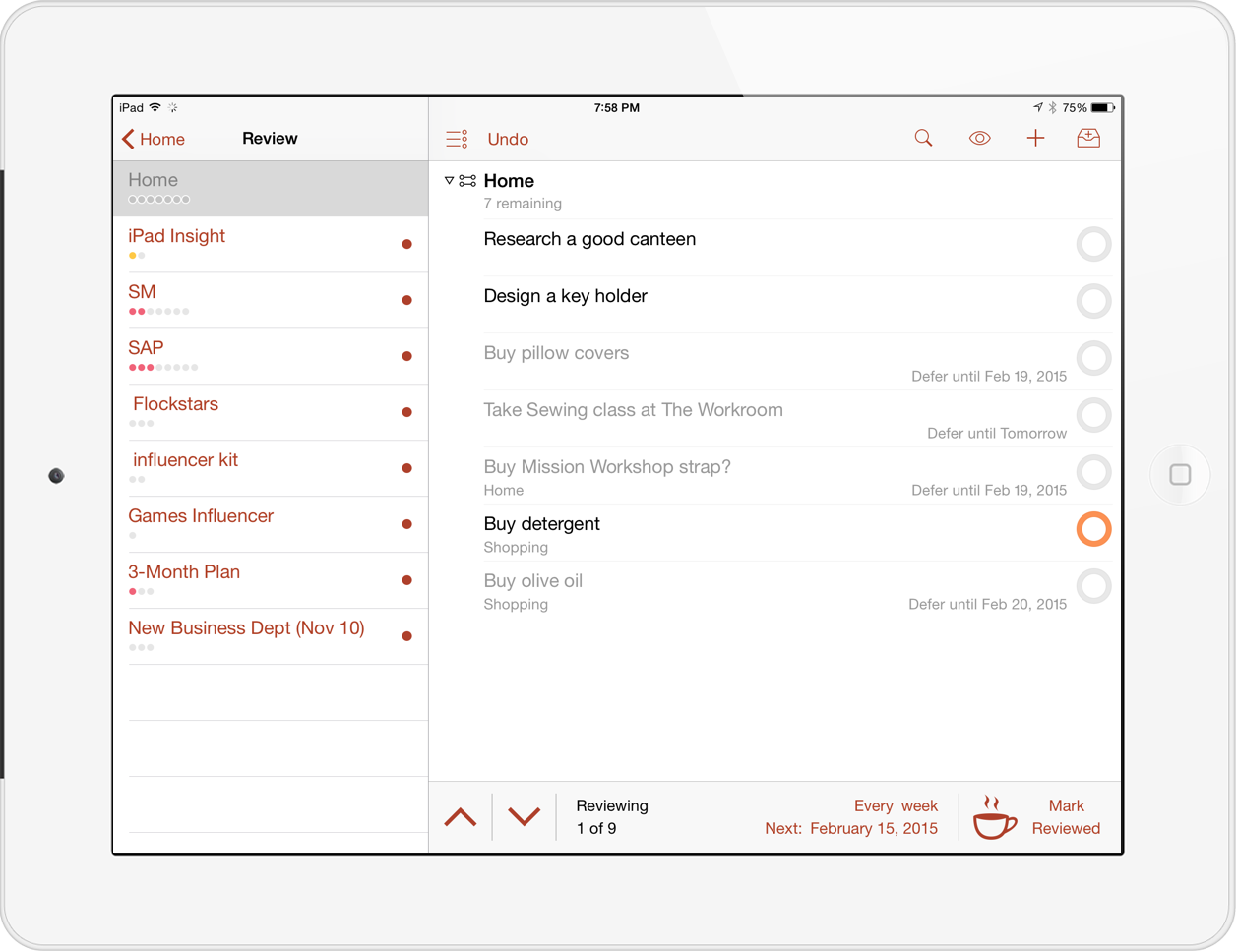 OmniFocus 2 for iPad Review1