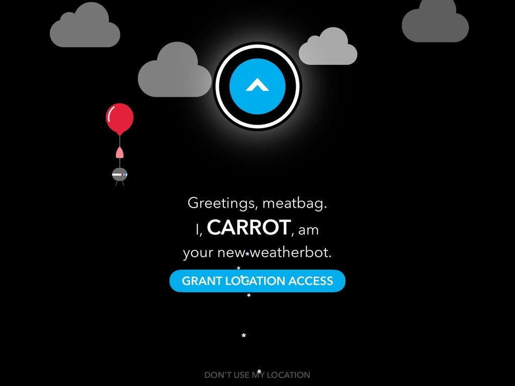 iPad App of the Week: CARROT Weather – Talking Forecast Robot