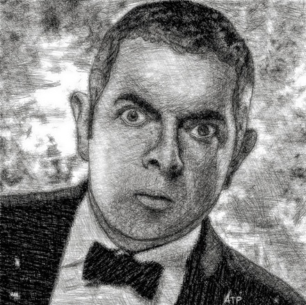 Johnny English iPad painting