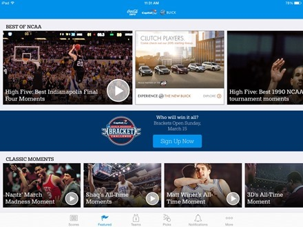 March Madness Live for iPad