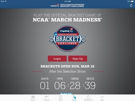 March Madness Live iPad app