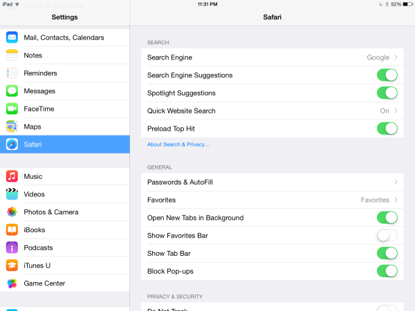 How to manage your stored credit card info in your ipad Browser info