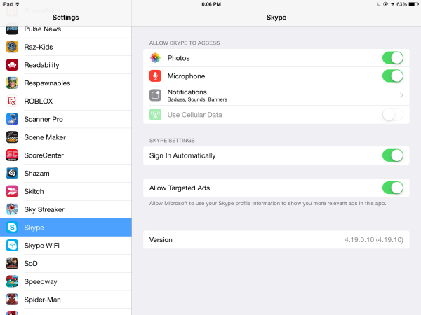 Skype-Settings-iPad