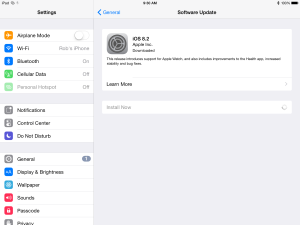 iOS 8.2 is available for download–should you update your iPad?