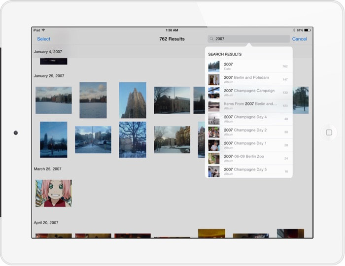 iPad tip searching photos app in iOS 8