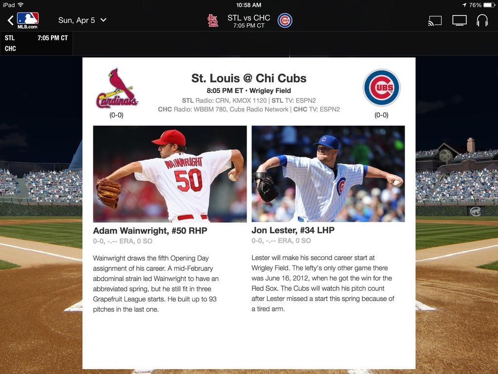 MLB At Bat iPad App Updated for Opening Day
