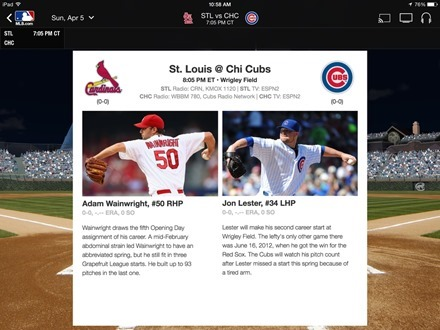 MLB At Bat iPad app