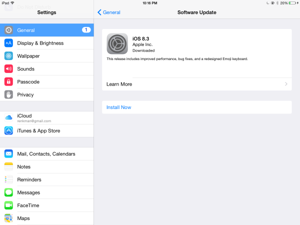 How to sort and report junk iMessages with iOS 8.3 on your iPad