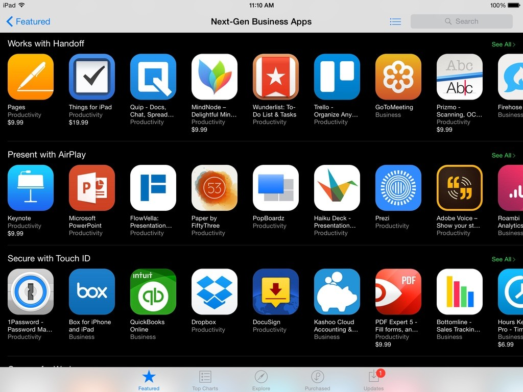 Next Gen Business Apps for iPad