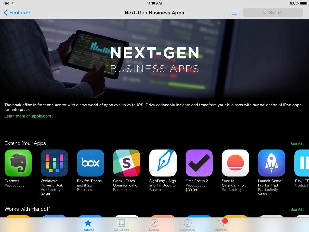 Next-Gen Business Apps for iPad: Featured App Store Collection this Week