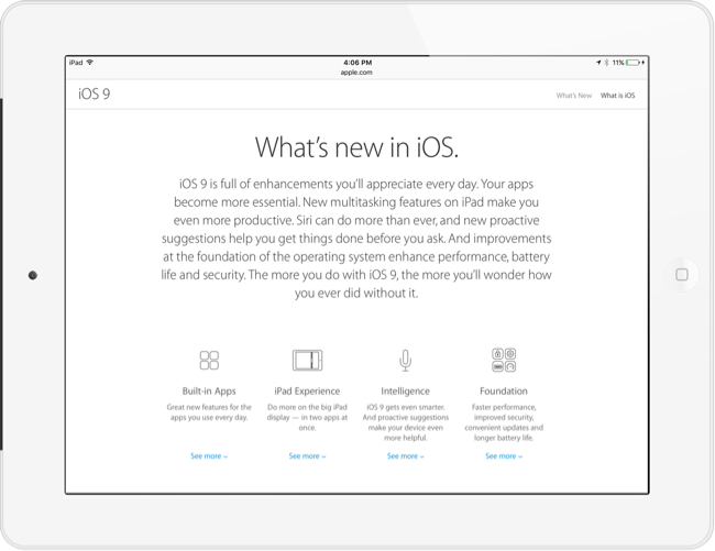 iOS 9 for iPad