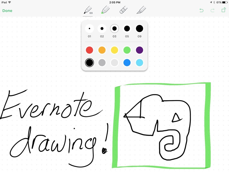 Evernote 7.9 for iPad1