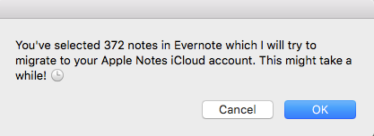 Evernote-migrate
