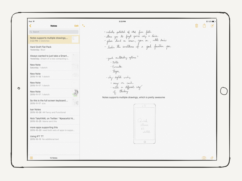 can i write notes on ipad mini