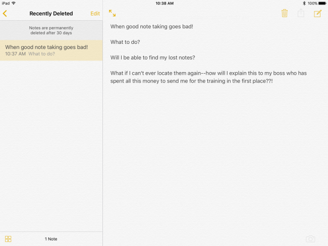 How to Recover Lost or Deleted Notes from the Notes App on your iPad