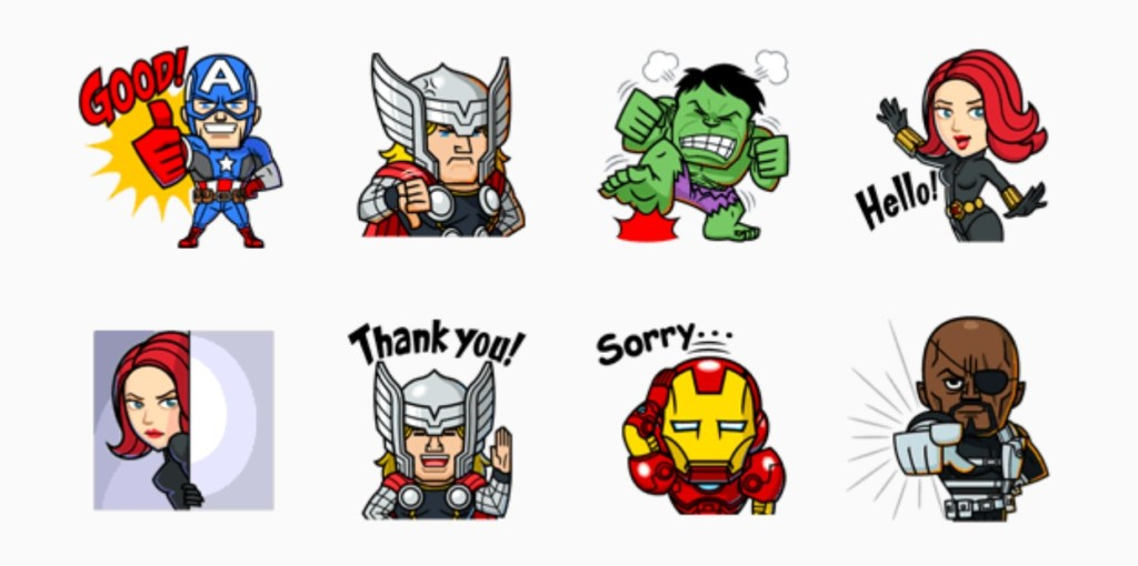 LINE Marvel stickers