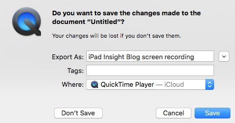 Quicktime-movie-save-changes