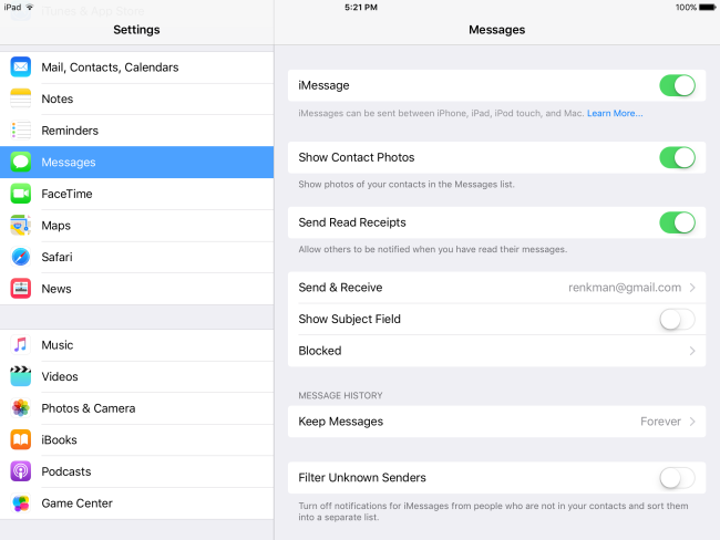 how to turn on read receipts on mac