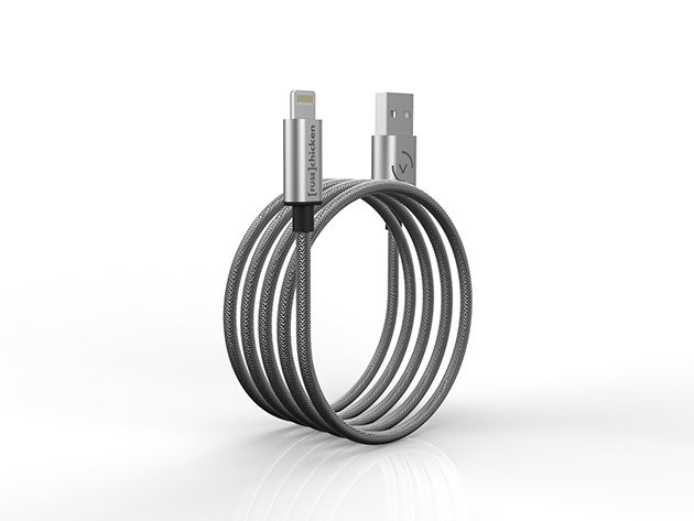 Armour Charge Steel iOS Charging Cable