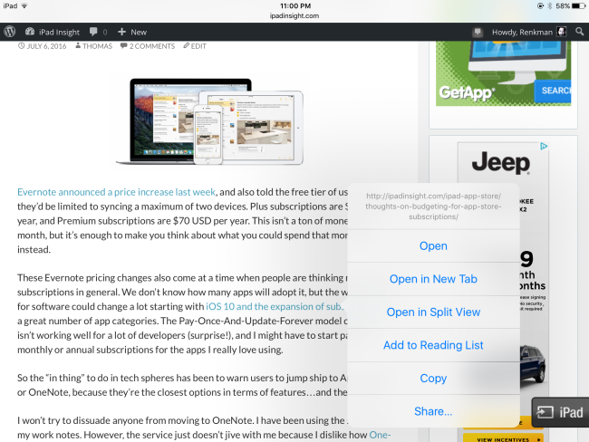 Safari-Split-View-on-iPad