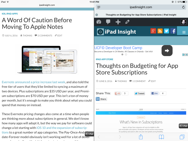 How to enable Safari Split View in iOS 10