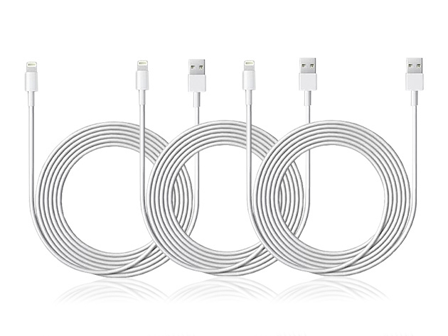 6.5-Ft Apple MFi-Certified Lightning Cable: 3-Pack