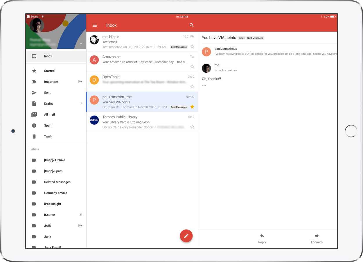 how to read replies on gmail app