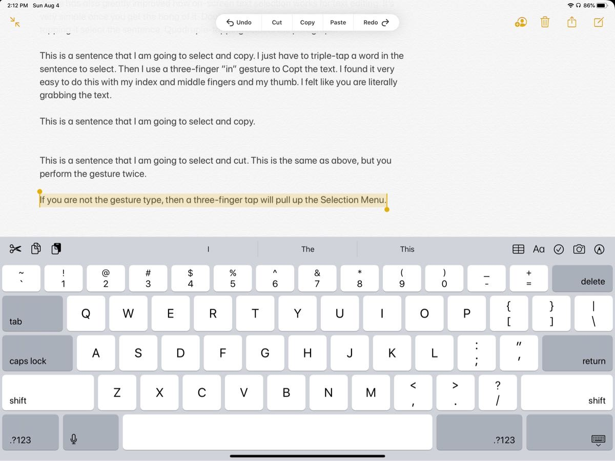 iPadOS 13 in Action: Text Selection