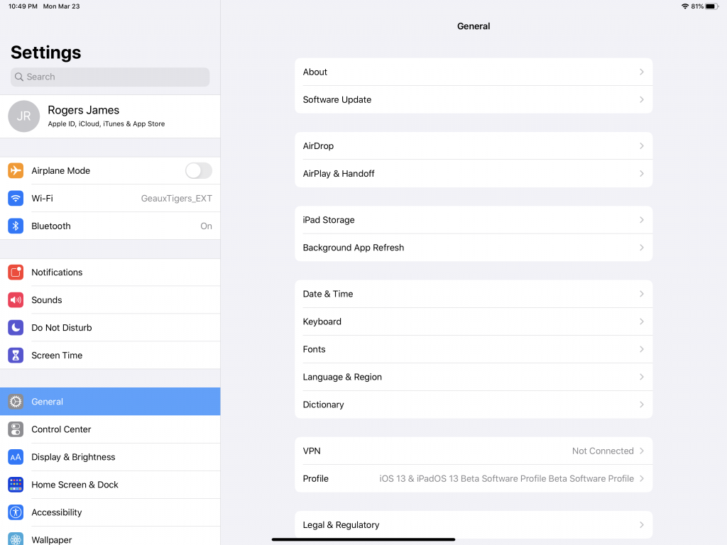 Enable iPadOS 13.4 Trackpad Support