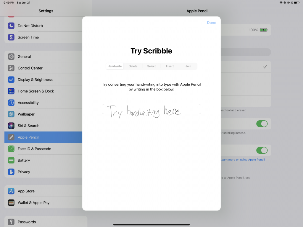 Scribble for iPadOS 14
