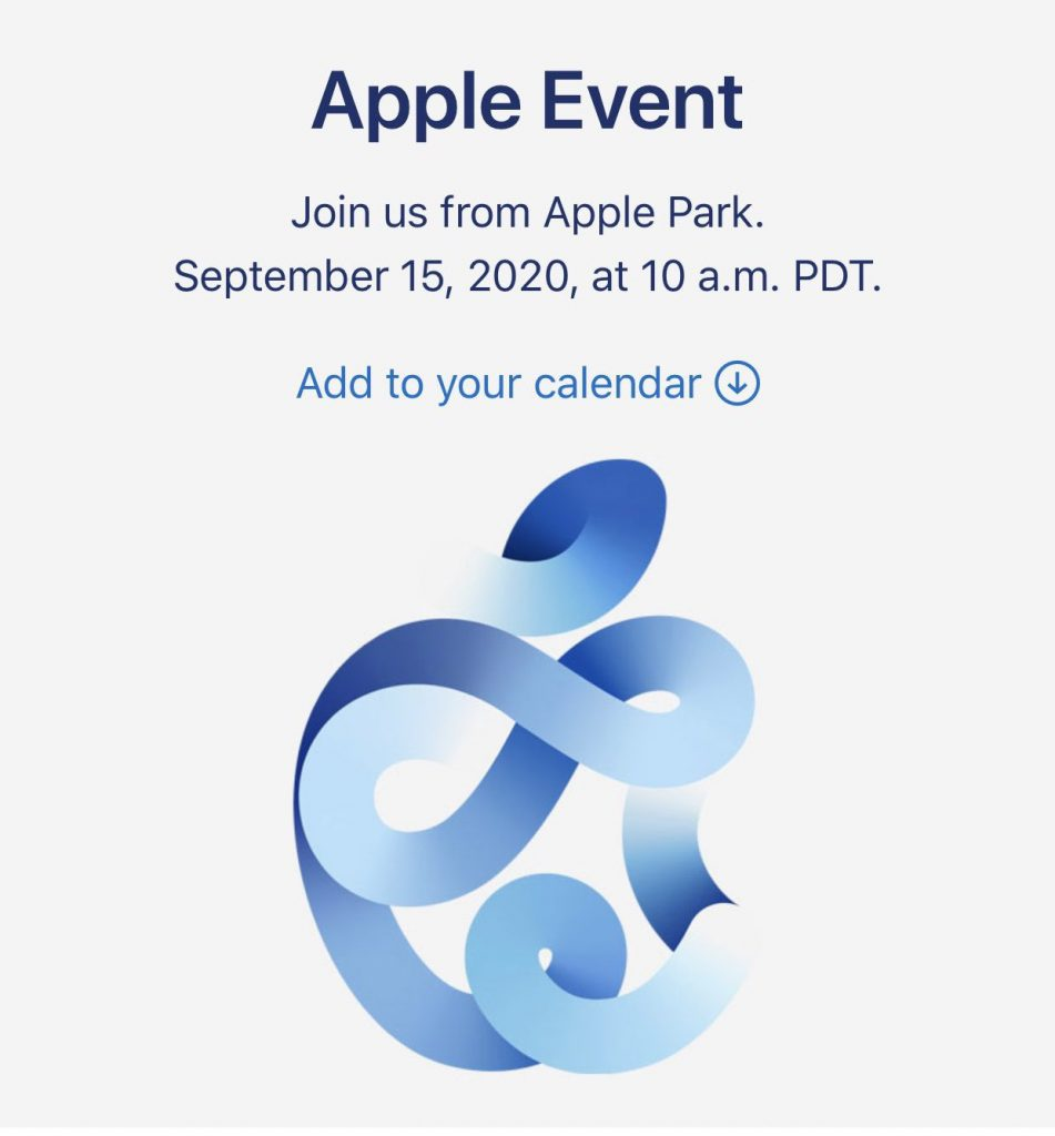 Apple Event on September 15, 2020