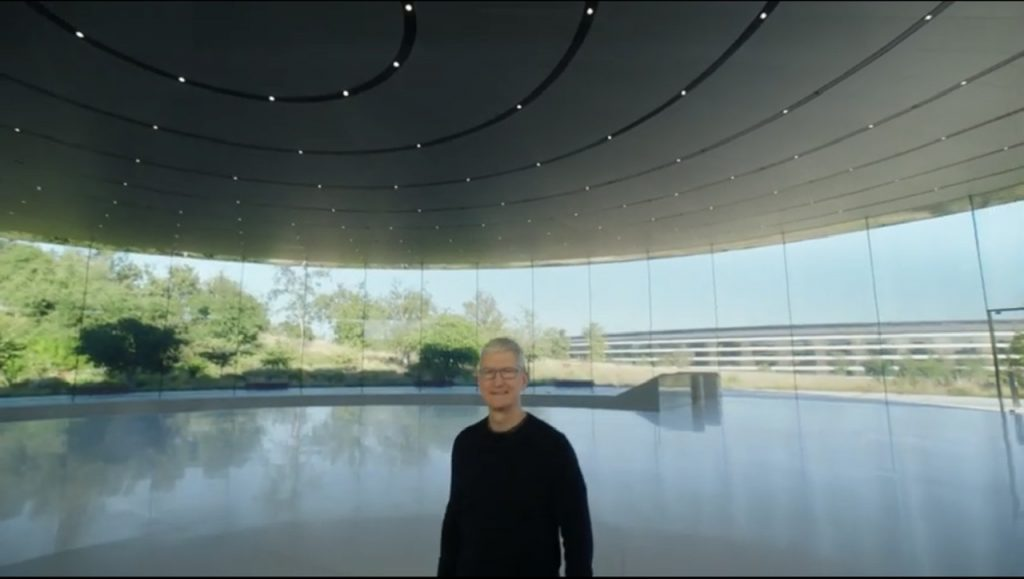 Tim Cook at Apple Park