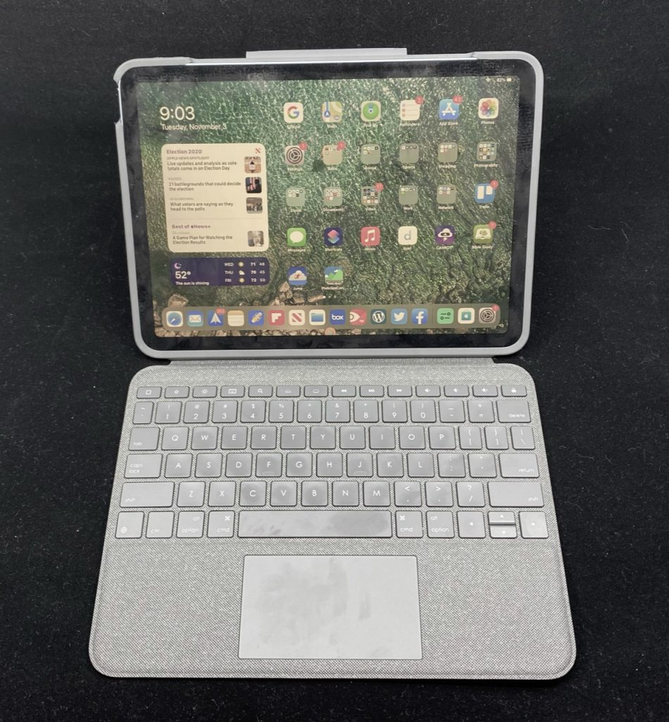 Logitech Folio Touch for iPad Air In front