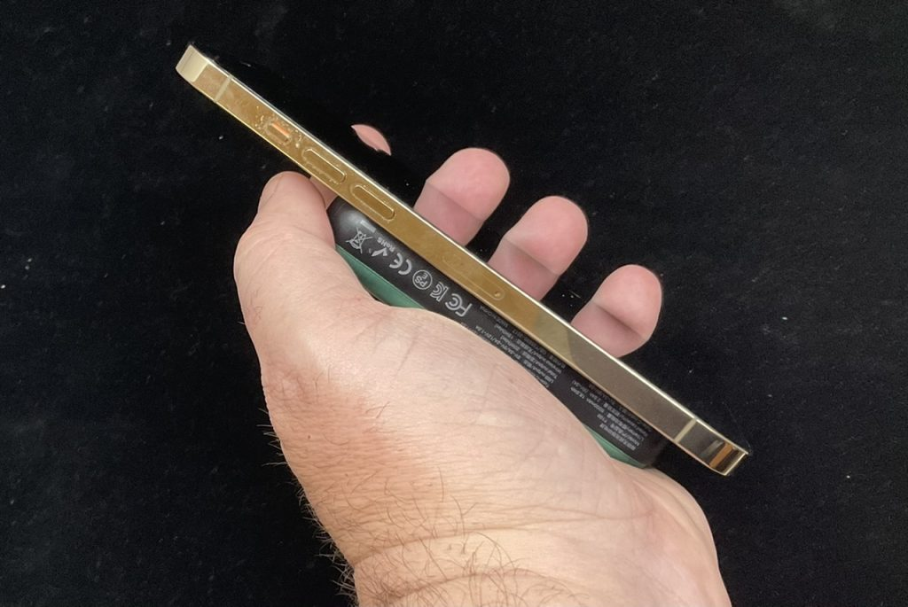 Charge Safe MagSafe Battery Pack Thickness in Hand